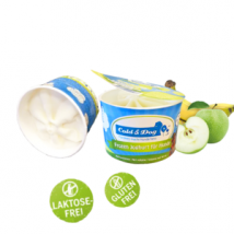 Hundeeis Joghurt Apfel Banane 90 ml 1 Becher