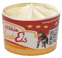 Petman Hunde Eis Peanut Banana 90 ml 1 Becher