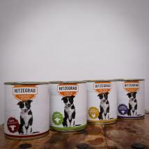 Hitzegrad - Nassfutter-Probierpaket für Hunde, 24*800g