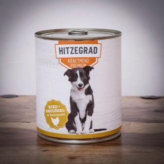 Hitzegrad - Kraftmenü, 800g für Hunde Sparpaket 6 Dosen