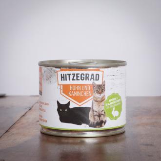 Hitzegrad - Huhn und Kaninchen 200 g für Katzen 1 Dose