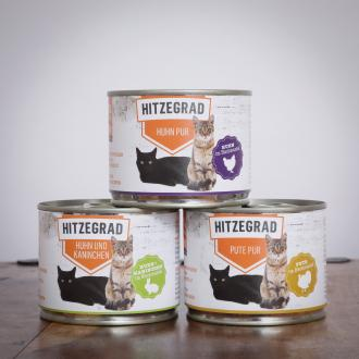 Hitzegrad - Nassfutter-Komplettpaket für Katzen, 90*200g