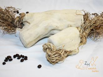 Kaffee-Kauwurzel-Knolle-Bananenfaser, L für Hunde