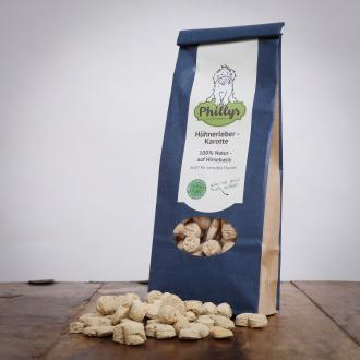 Phillys Hühnerleber Karotte, 150 g für Hunde
