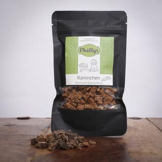 Phillys Fleisch Mini´s - Kaninchen, 80 g für Katzen
