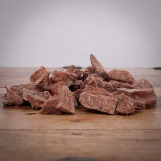 Rindergulasch, gefriergetrocknet, 70 g für Hunde