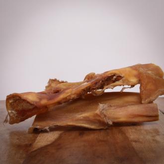 Rinderkopfhaut, 800 g, große Platten für Hunde