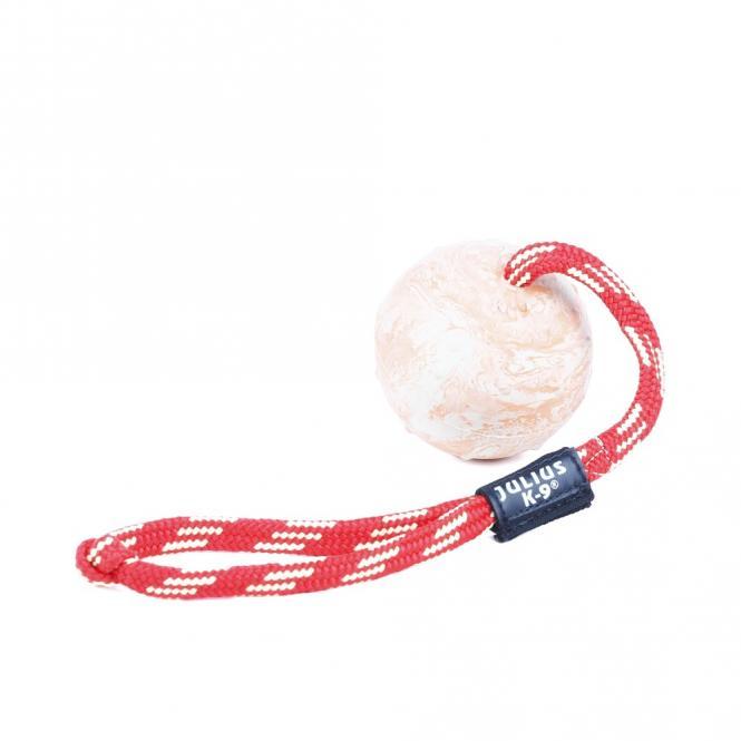 IDC® Kautschuk Ball mit verschliessbarer Schnur, 70 mm für Hunde