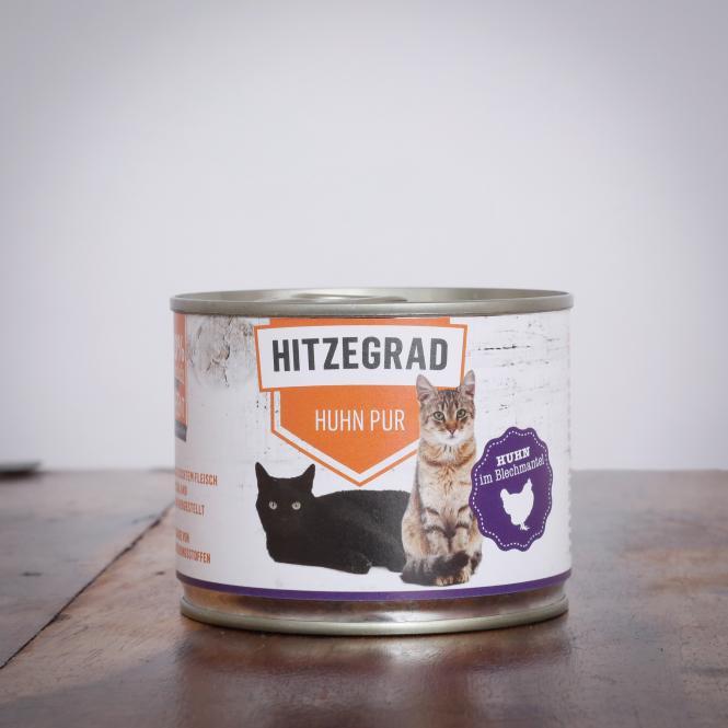 Hitzegrad - Huhn Pur 200 g für Katzen
