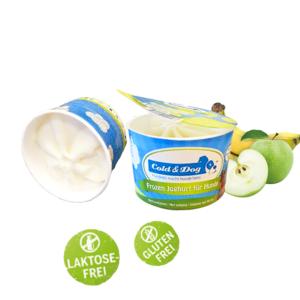Hundeeis Joghurt Apfel Banane 90 ml 12 Becher Sparpack