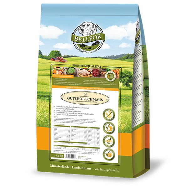 GUTSHOF-SCHMAUS - Huhn, Truthahn & Entenfleisch - getreidefrei (2,5 kg) für Hunde