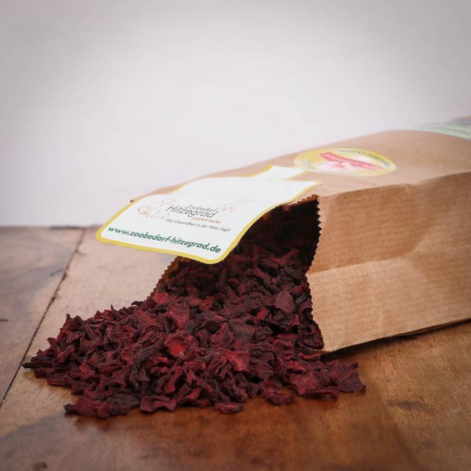 Rote Beete Würfel, 250 g für Hunde