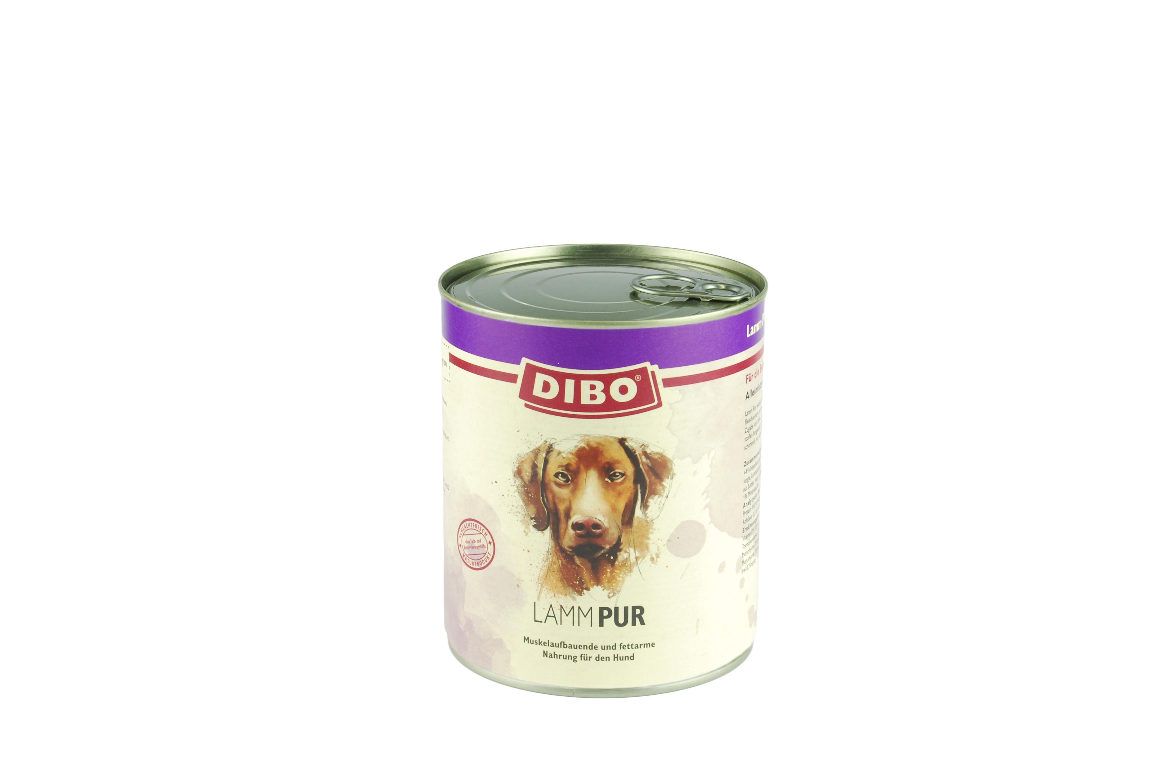 PUR Lamm, 800g für Hunde