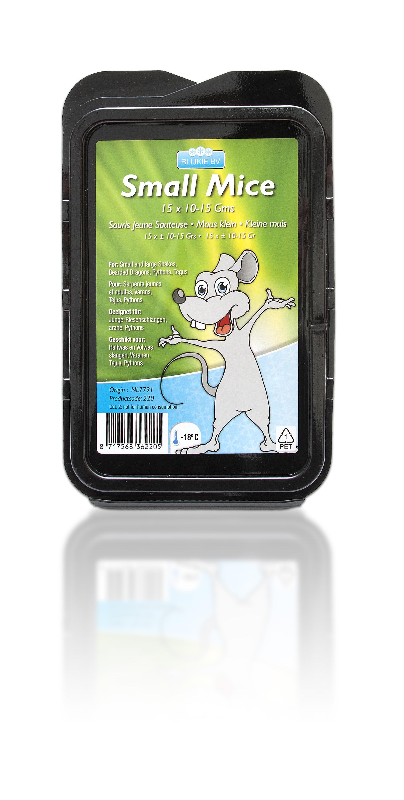 Kleine Maus, 8-15 g, 50 Stück für Greifvögel