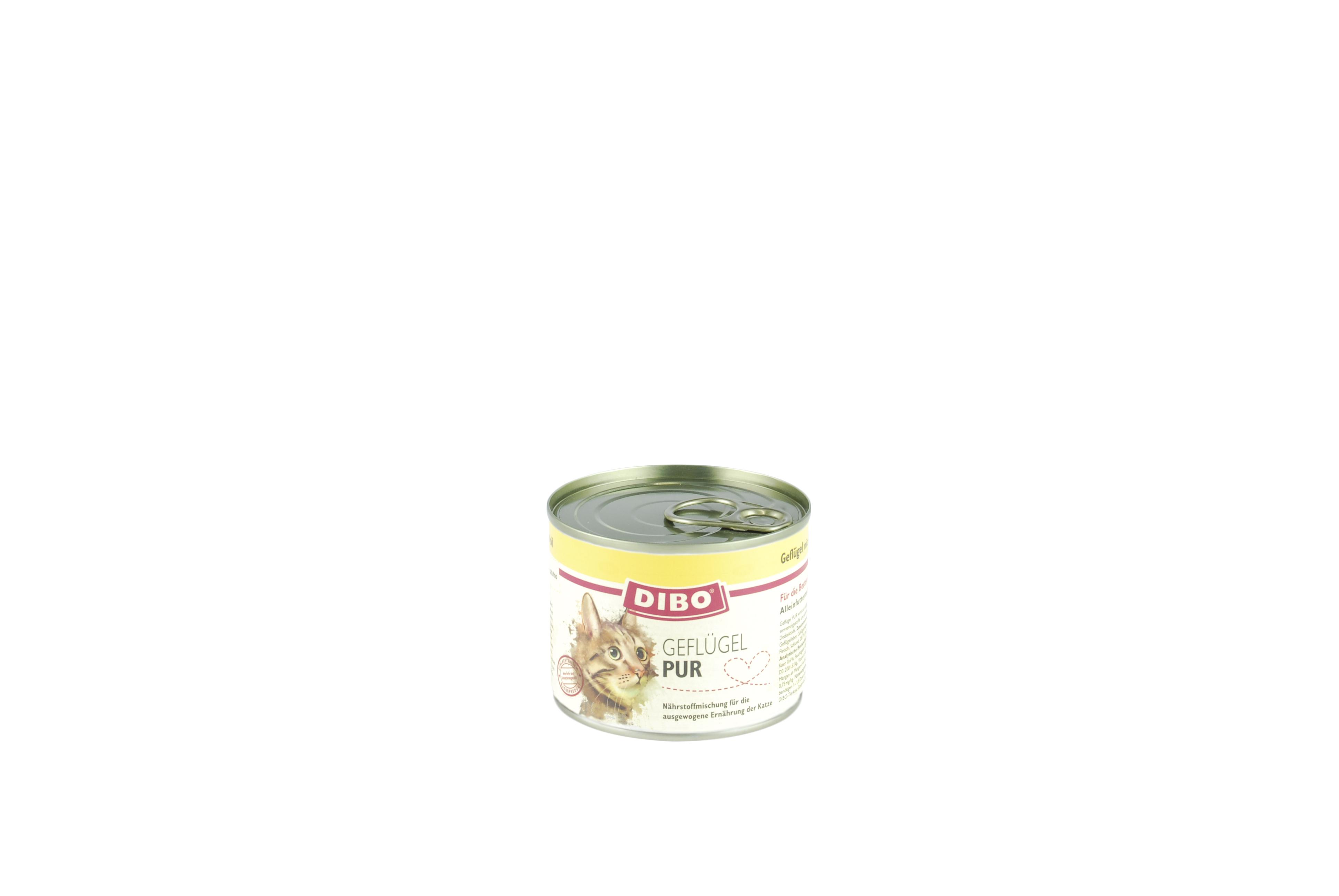 Geflügel Cat PUR 200 g Ringpulldose für Katzen