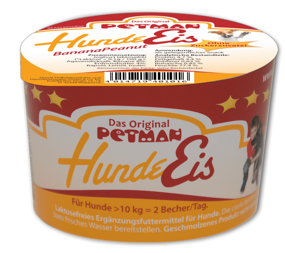 Petman Hunde Eis Peanut Banana 90 ml