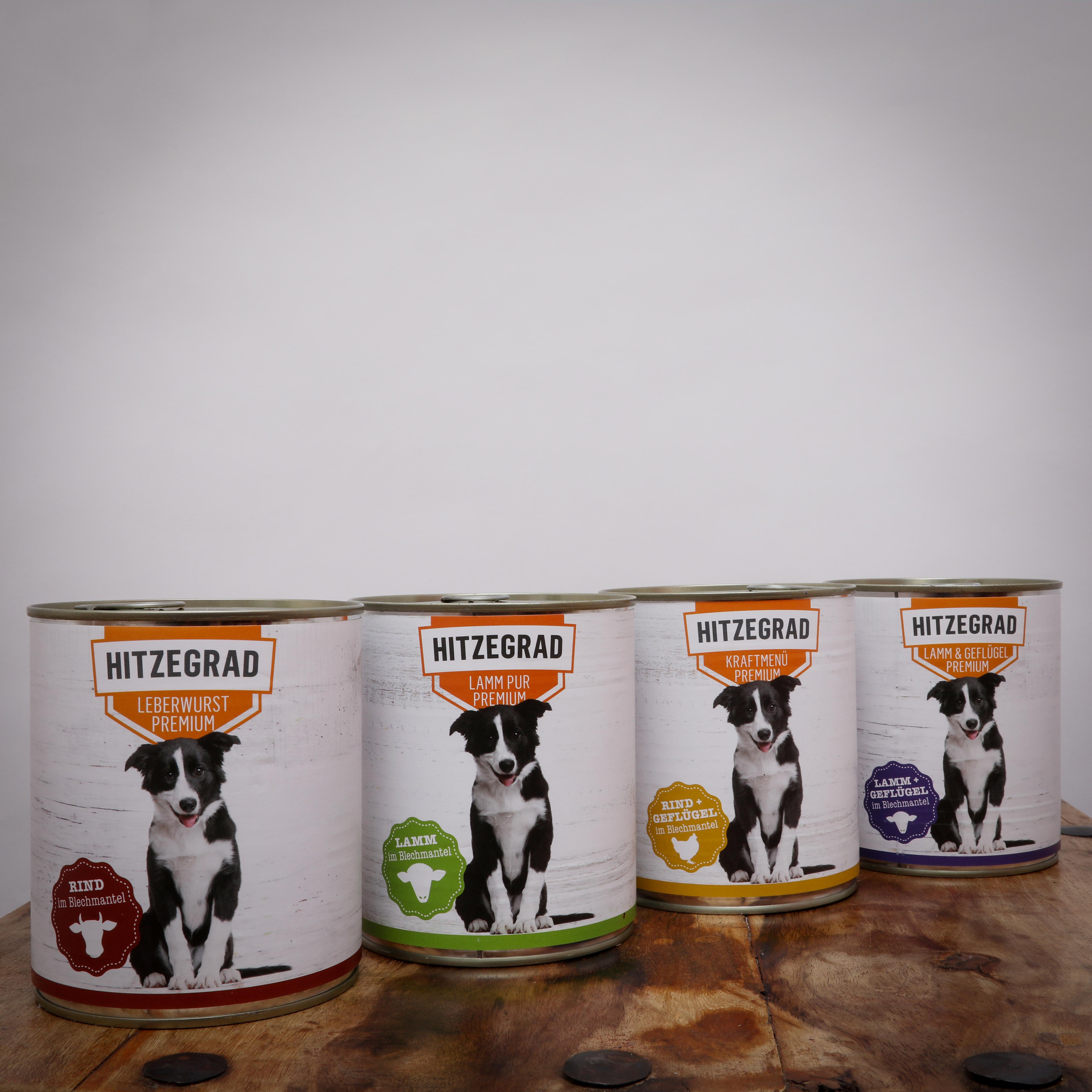 Hitzegrad - Nassfutter-Komplettpaket für Hunde, 120*800g