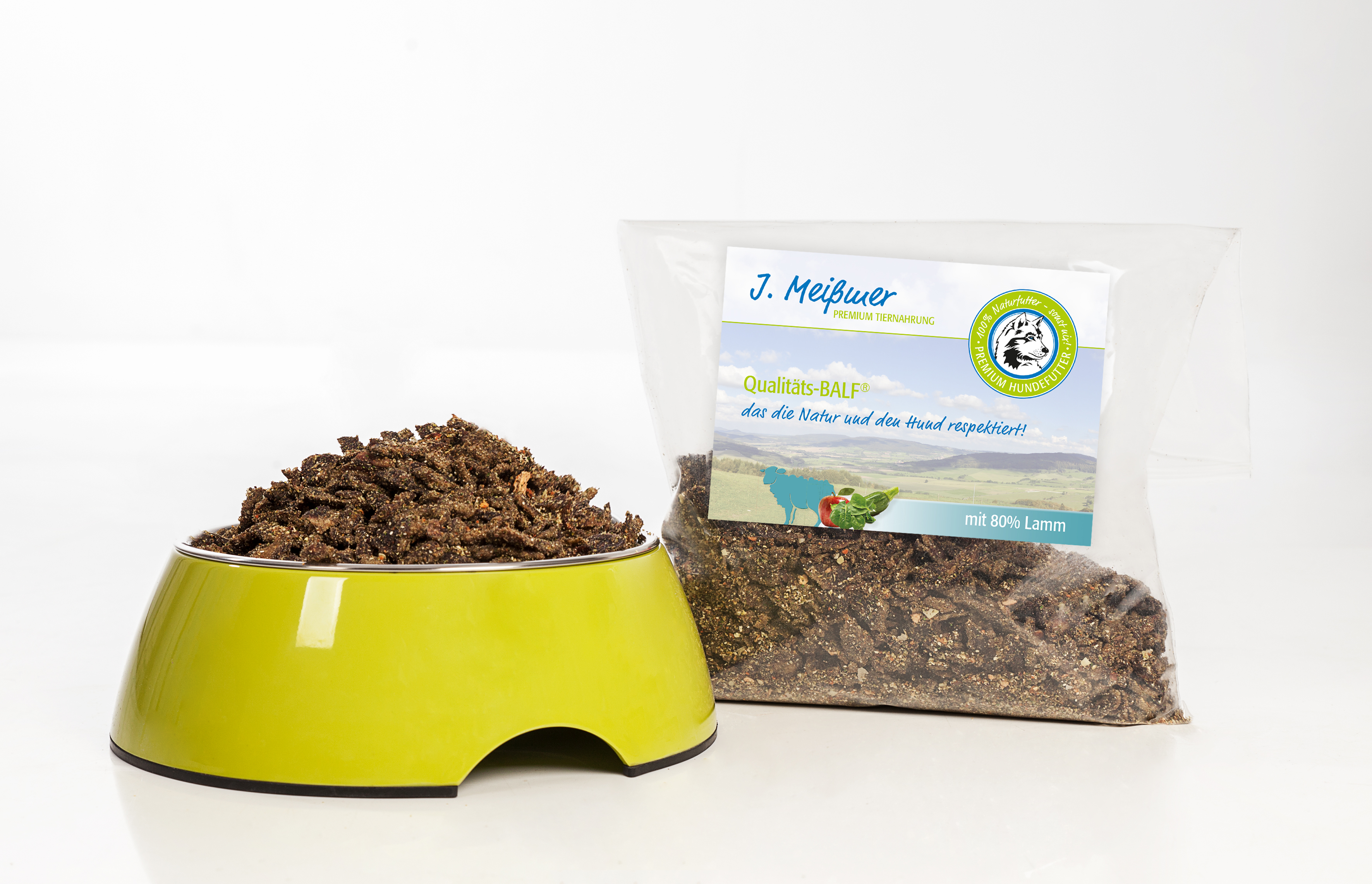 J. Meißmer Alleinfutter Lamm mit Obst/Gemüse, 1 kg für Hunde
