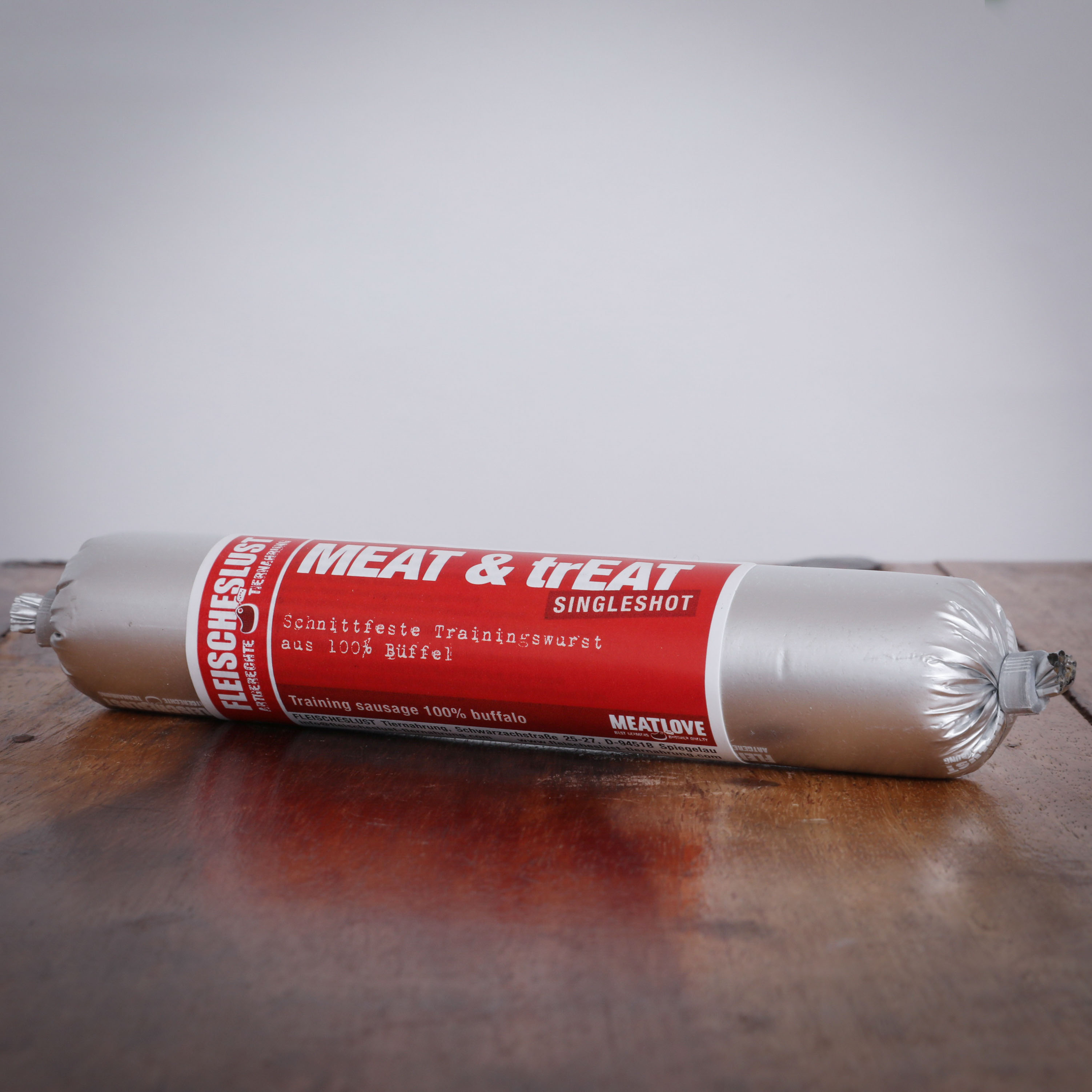 Meat & Treat Büffel Singleshot, 80g für Hunde