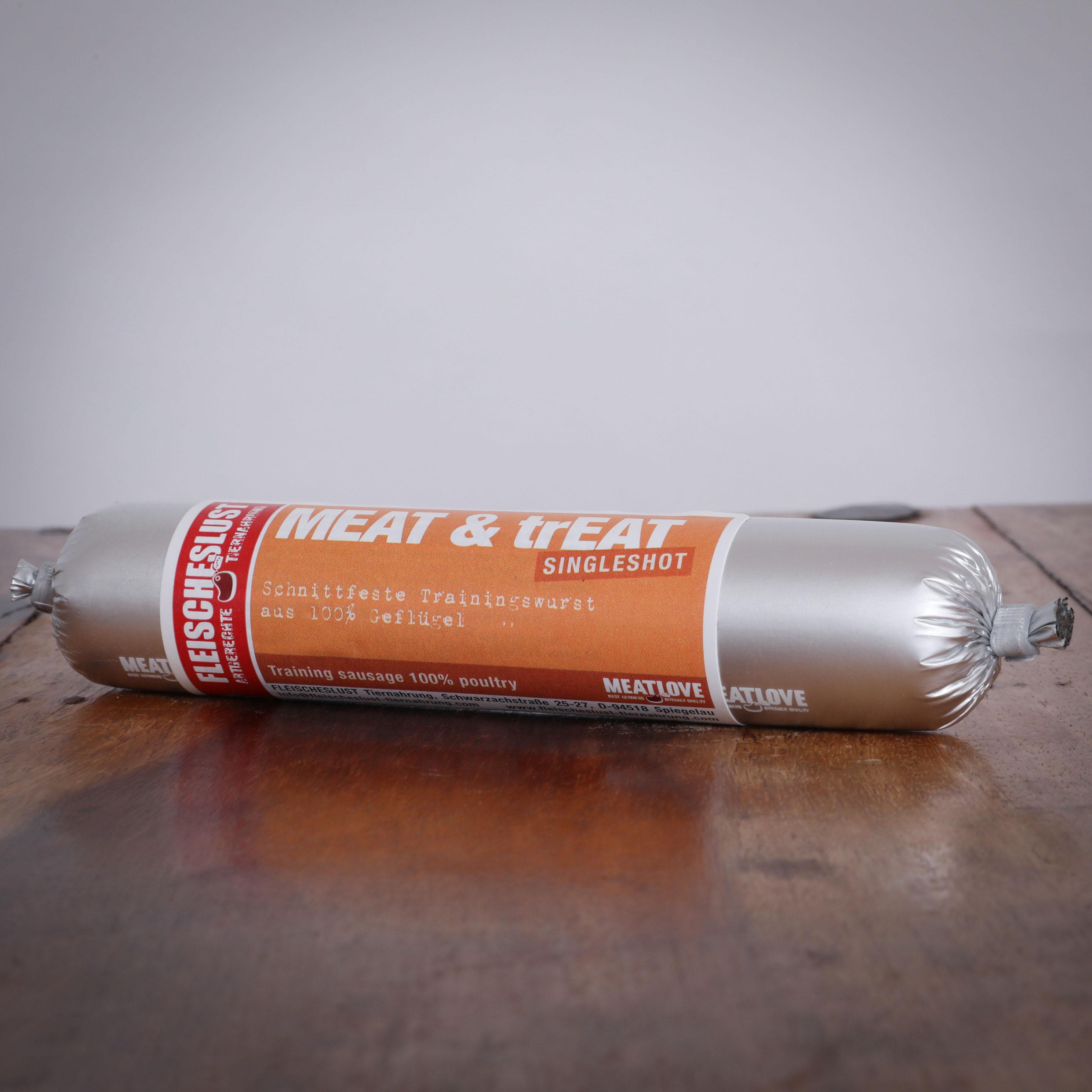 Meat & Treat Geflügel Singleshot, 80g für Hunde