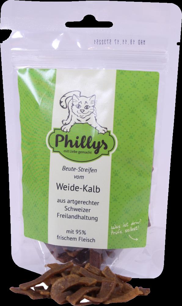 Beutestreifen vom Kalb, 45 g für Katzen