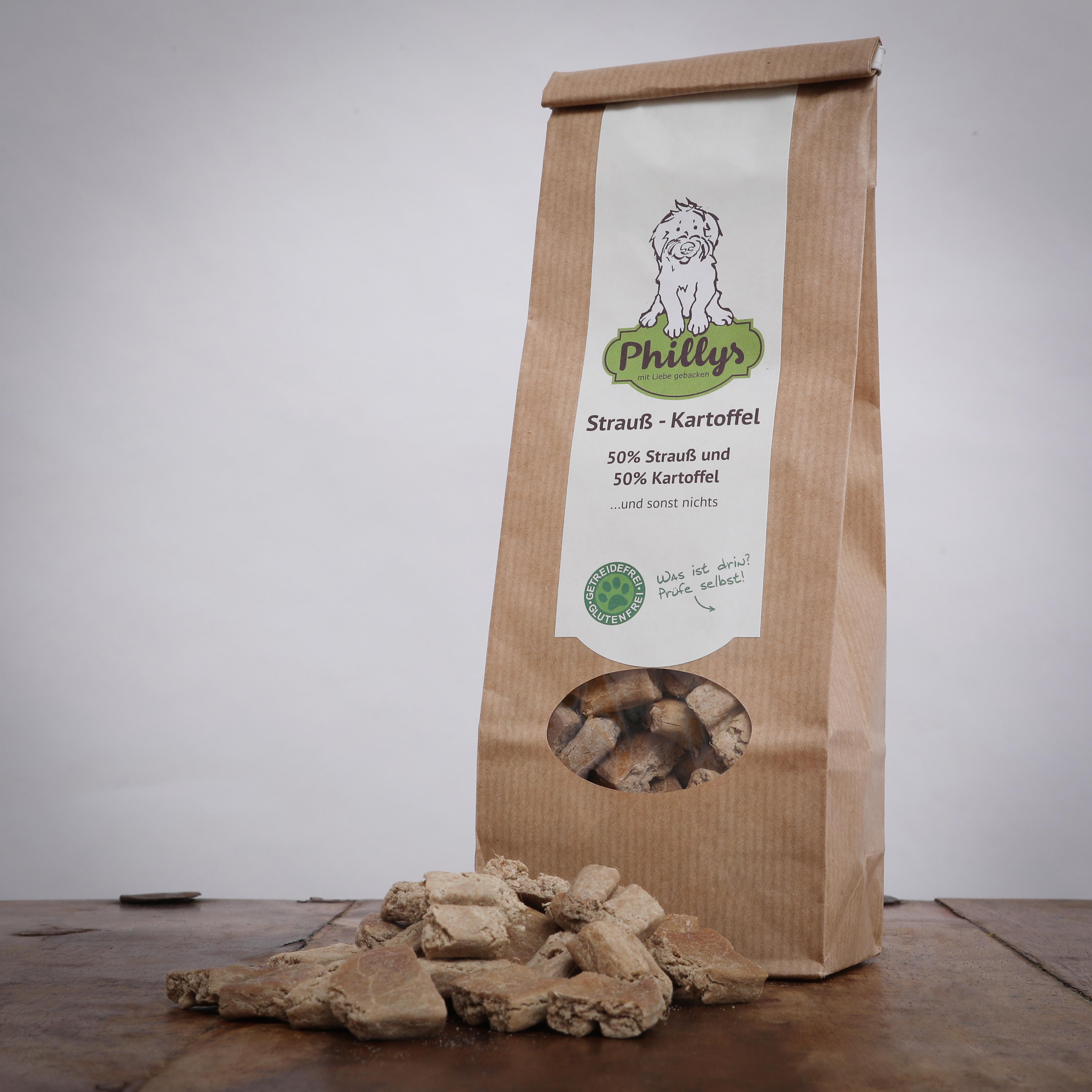 Phillys Strauß Kartoffel, 150 g für Hunde